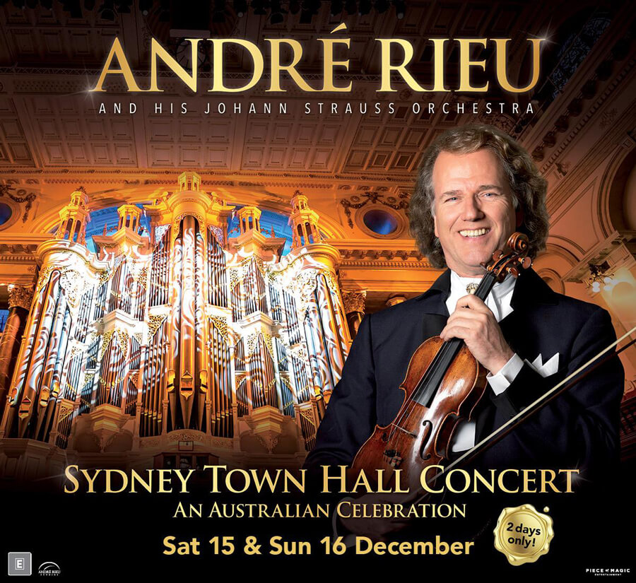 Andre Rieu – Sydney Town Hall Concert in Vmax at Event Cinemas