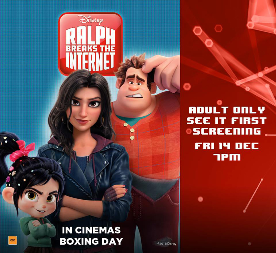 Ralph Breaks the Internet – Adults Only Advance Screening at Event Cinemas