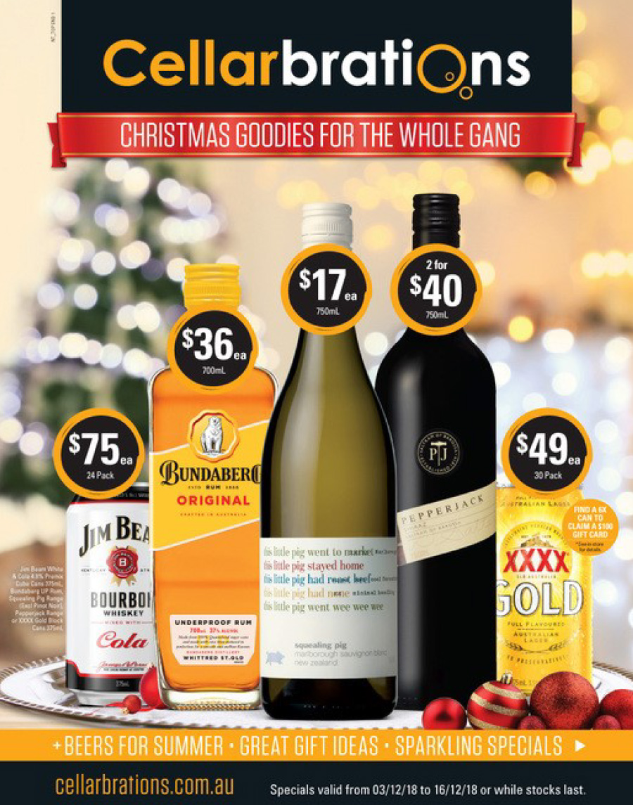 Cellarbrations Christmas Catalogue Specials