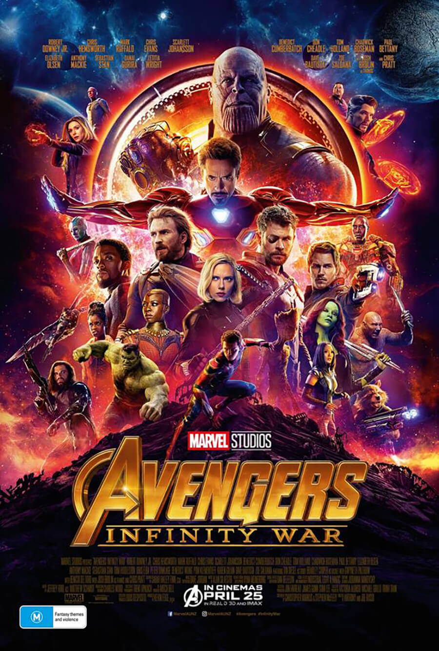 Avenger: Infinity War – One Night Only in Vmax at Event Cinemas