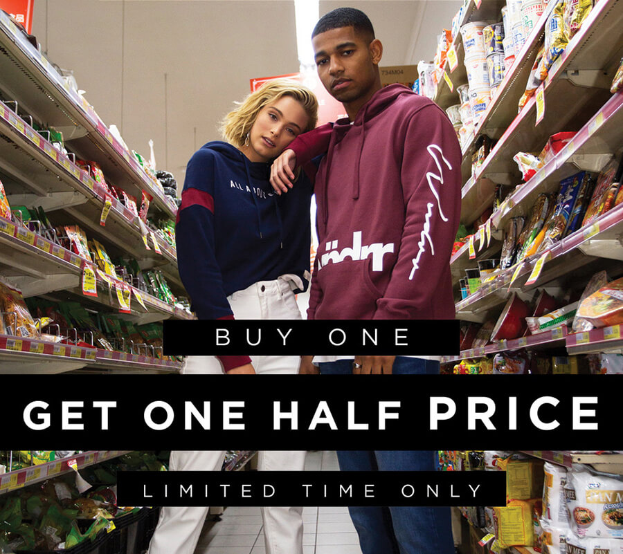 Buy One Get One Half Price at Edge Clothing