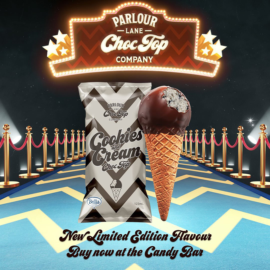 New Limited Edition Choc-Top Flavour: Cookies & Cream