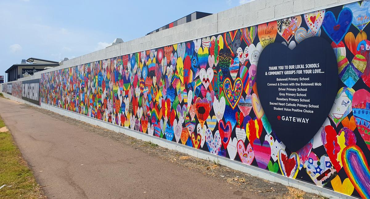 Community Heart Wall
