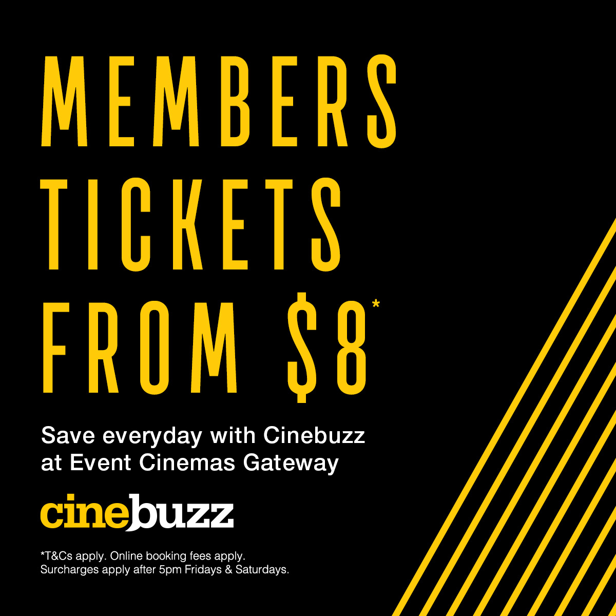 Cinebuzz Tickets from $8 at Event Cinemas