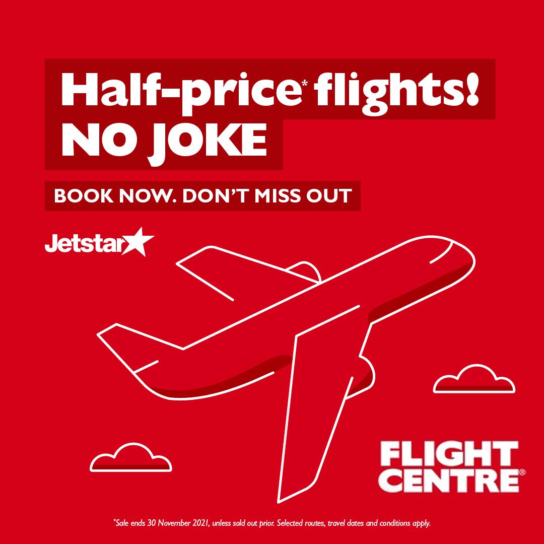Flight Centre Now Also Open on Mondays!