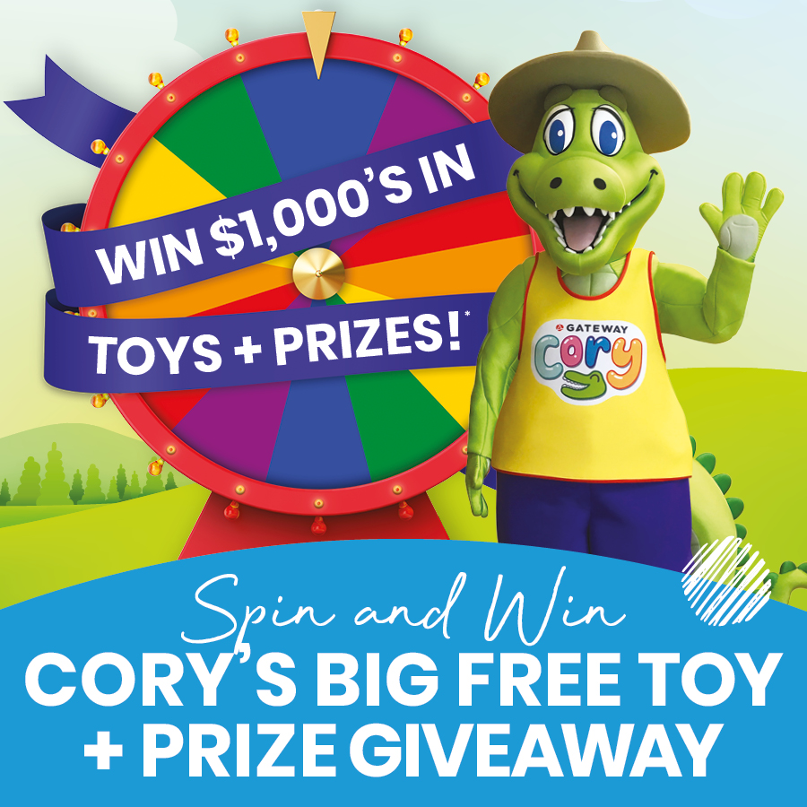 Spin & Win in Cory's Big FREE Toy & Prize Giveaway!